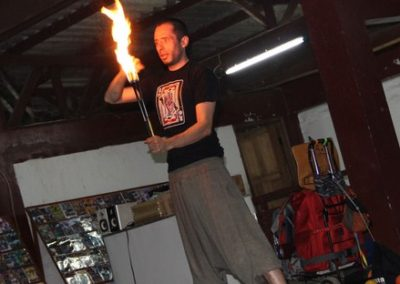 standing fire artist
